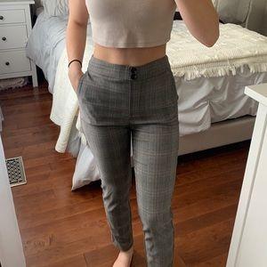 Petite Grey Plaid Pants   Reitmans the Iconic